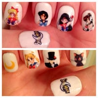 Sailor Moon Nail Decals