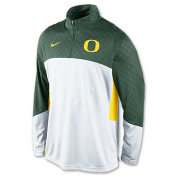 Men's Nike Oregon Ducks College Quarter Zip Shoot Around Shirt