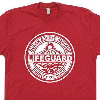 Maui Hawaii T Shirt Vintage Lifeguard T Shirt Vintage Surfing Tees