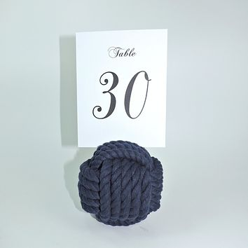 "Nautical Knot Card Holder, Navy, 4.5"", 5-Pass"