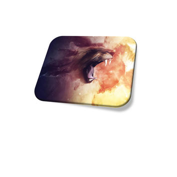 Awesome Fantasy Art Animal Mouse Pad Lion Roar