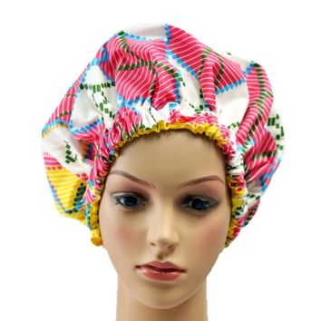 Candy Pink Adult Ankara Bonnet