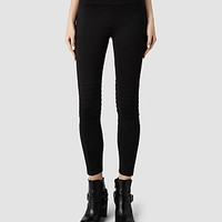 Womens Elm Leather Leggings (Black) | ALLSAINTS.com