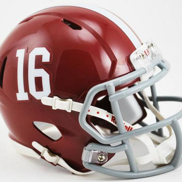 Riddell NCAA University of Alabama #16 Speed Mini Helmet