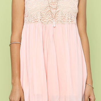 Crochet Detail Dress