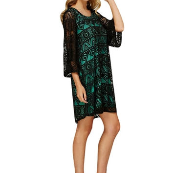 Two to Tango Black and Mint Dress