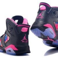 Hot Air Jordan 6 Retro Women Shoes Colorful Black Pink