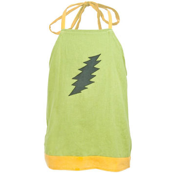 Grateful Dead - Lightning Bolt Green Infant Halter Top