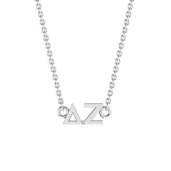 Delta Zeta Silver Horizontal Lavalier, Available in all Sororities!