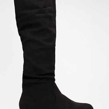 FOREVER 21 Tall Faux Suede Boots