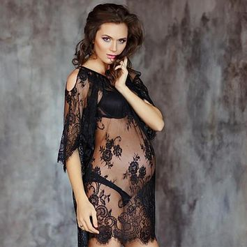 Maternity dresses for photo shootmaternity photography props lace pregnancy dress off shoulders sexy gown for pregnant women