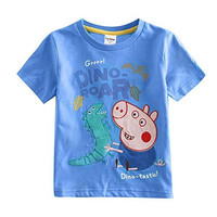 [IGO.]Peppa Pig tees boys Top cotton Short sleeve t-shirt NR-P02_4/5y