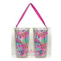 Insulated Tumbler Set in Trippin' and Sippin' by Lilly Pulitzer - FINAL SALE