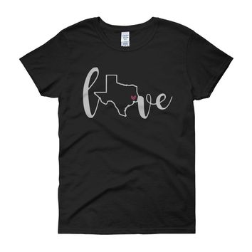 Texas Love State United States Of America Women'S T Shirt