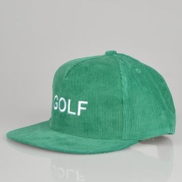 Odd Future Golf Corduroy Snapback Cap - Green