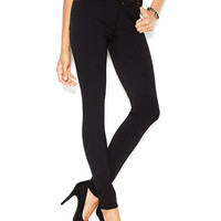 7 For All Mankind High-Waisted Black Wash Skinny Jeans | macys.com