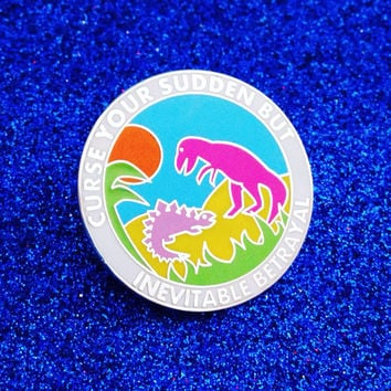 """Firefly Serenity Enamel Lapel Pin Badge - """"Curse your sudden but inevitable betrayal"""""""
