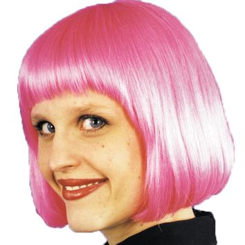 Cindy Wig Hot Pink Women's mask