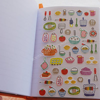 korean made handprint style kitchen tool food cake decorative sonia sticker for scrapbook/album/journal notebook/calendar/planner/smartphone