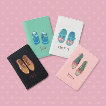 Shoes Family Passport Holders