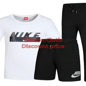 Nike Three-Piece Suit 2018 Spring New Style Clothes L-4XL X-7709 White Black