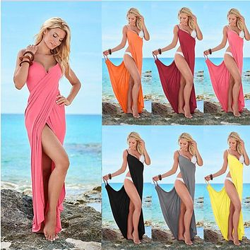 2018 Women Sexy Striped Casual Boho Bohemian Beach Dress Loose Sundress Tunic Women Long Maxi Dress Bandage Dress Lyq34