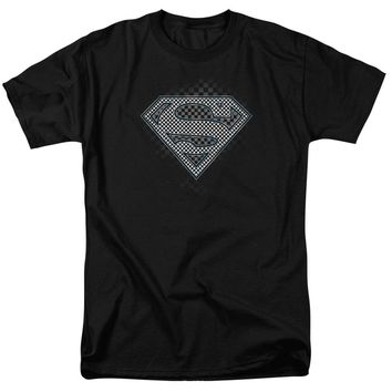 Superman - Checkerboard Short Sleeve Adult 18/1