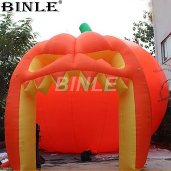 2018 new designed giant Halloween decoration inflatable pumpkin tent for events