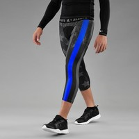 Tactical Thin Blue Line USA Flag 3/4 Tights for men