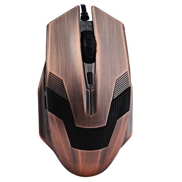 A-jazz Green Hornet 2000DPI LED Gaming Mouse with USB Braided Wire Anti-interference Magnetic Ring for DOTA LOL Desktop Laptop