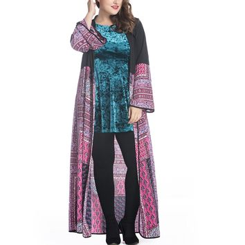 New Arabic Style Chiffon Dress Dubai Kaftan Muslim Gown with Waist Belt Middle Eastern Maxi Robe for Women Girls