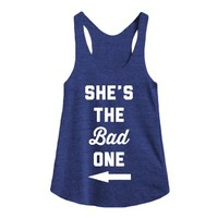 The Bad One-Female Tri Indigo Tank