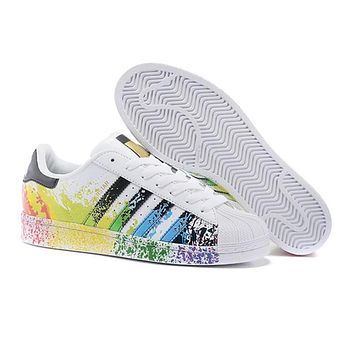 Superstar Original Gold Hologram Sneakers for Women Men Sport Running Shoes Size 38-44