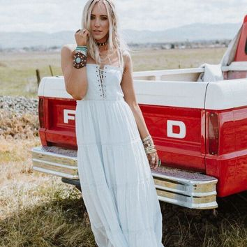 Above The Clouds Tiered Maxi Dress