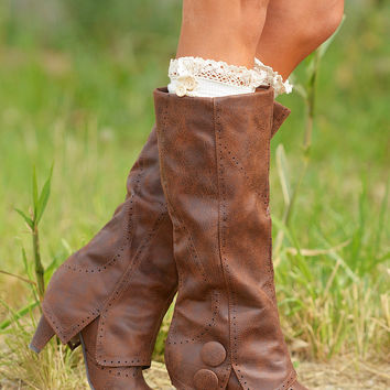 Weathering The Storm Boots - Tan