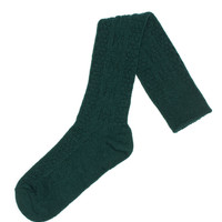 Acrylic & Spandex Cable Knit Knee Hi's Socks (Hunter)