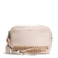 Coach :: New Legacy Flight Wristlet In Studded Leather