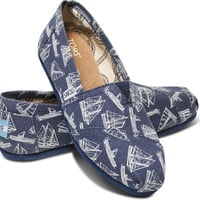 NAVY SAILBOATS WOMEN'S CLASSICS