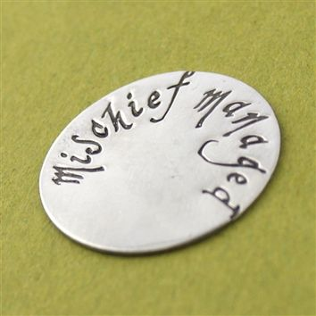 Mischief Managed Floating Locket Disc - Spiffing Jewelry