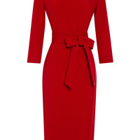 Pencil Dress With Pleats by A La Russe - Moda Operandi