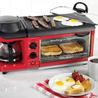 Nostalgia BSET300RETRORED Retro Series 3 in 1 Breakfast Station