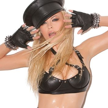 Leather Dominatrix Hat
