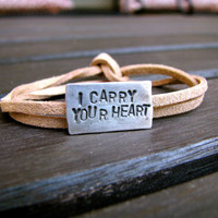 I Carry Your Heart EE Cummings Suede & by charitypooledesign