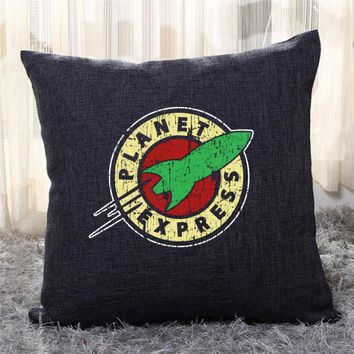 Planet Express 2, The Simpsons Throw Pillow Cover