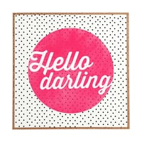 Allyson Johnson Hello Darling Dots Framed Wall Art