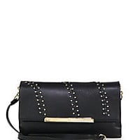 Christian Louboutin - Rougissime Convertible Studded Leather Clutch - Saks Fifth Avenue Mobile