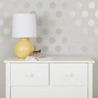 Lottie Dots Decal (Silver) in Wall Decals | The Land of Nod