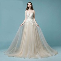 Lace Wedding Dress Beach Bridal  Wedding Gowns Tulle