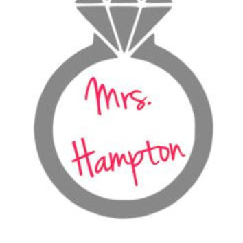 Personalized Wedding Ring Decal, Diamond Ring Decal, Car Decal, Wedding Gift, Engagement Gift, Engagement Ring Decal,  Bumper Sticker