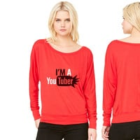 im a youtuber women's long sleeve tee